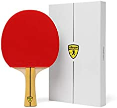 Killerspin JET400 Smash N1 Ping Pong Racket – Intermediate Table Tennis Racket| 5 Layer Wood Blade, Nitrx-4Z Rubbers, Flare Handle| Competition Ping Pong Racket| Memory Book Gift Box Storage Case