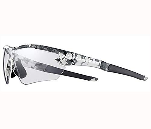 オージーケーカブト(OGK KABUTO) 自転車 スポーツサングラス/アイウエア 101PH (撥水クリア調光レンズ) マットホワイトカモ サイズ:S
