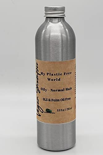 Champú de aceites esenciales sin plástico/sin SLS/aceite de palma, apto para veganos
