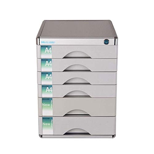 Bestand Kasten Lock Multi-Layer Kunststof Lade Type Office Opslag Archief Box Kleur-Silver Hoge Kwaliteit Aluminium - 30x36x40.5cm Opbergdoos ZILVER