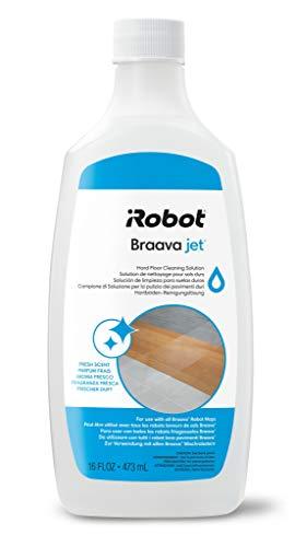 iRobot 4632819, Detergente per Pavimenti per Braava e Scooba, Dona Una fragranza Fresca e di Lunga Durata, 473 ml, Bianco