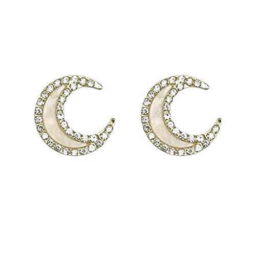 Súper hada luna pendientes de moda con diamantes tachonados de lujo ligero de alta gama sexy aretes ins dulces pendientes de nicho de temperamento salvaje