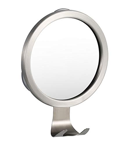 Ettori Fog-Free Shower Mirror Bathroom Fogless Shaving Bathtub Power Lock Suction