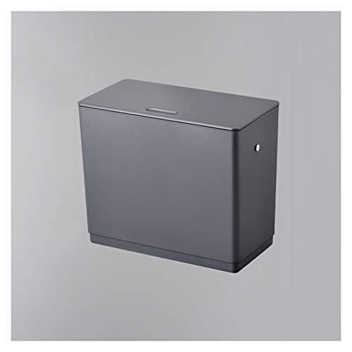 Bote de Basura 1,5 litros de Cocina Compost Bin Colgando pequeño Bote de Basura con Tapa de Hogares Colgantes de Basura Puerta del gabinete de Bin Armarios/baño/Dormitorio/Oficina Bote de Basura