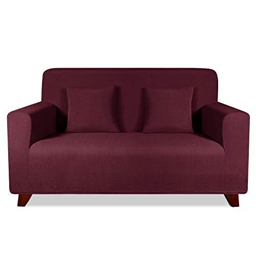 TAOCOCO Funda de sofá con Forma de Diamante/Funda de sofá Antideslizante/Funda de sofá elástica/Lavable/antiácaros/Antiarrugas (Rojo, 120_x_190_cm)