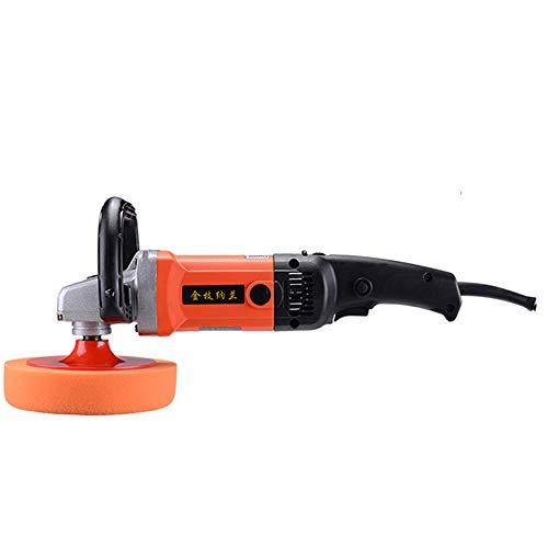 Roscloud@ Machine de polissage de voiture 220 V 1500 W, double interrupteur de la poignée amovible du radiateur superbe du pouvoir le plus élevé, design ergonomique efficace et convexe #1 Orange