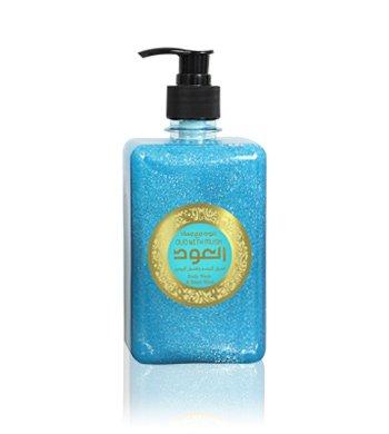 Liquid Soap, Hand & Body Wash,Liquid Oud Soap, Luxury Oud Collection (Blue Musk Color), Hand Liquid Soap, 16.92fL.oZ./500ml - مجموعة العود الفاخر، صابون سائل لغسول الأيدي والجسم، المسك الأزرق