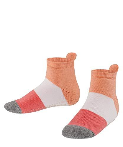 FALKE Unisex Kinder Colour Block Catspads K HP Hausschuh-Socken, Opaque, Orange (Apricot 8790), 27-30