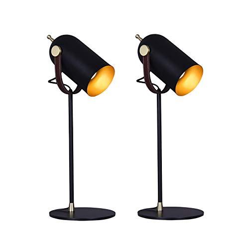 Dkdnjsk Einfache Ledermode Schmiedeeisen Kreative Tischleuchte , Personalisierte Lederschmuckdekorationfarbe Schmiedeeisenlampenschirm haltbar Stilvolle und raffinierte, drehende Knotenlampenschirmwin