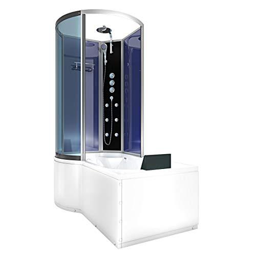 AcquaVapore DTP8050-A004R Wanne Duschtempel Badewanne Dusche Duschkabine 98x170 2-K Nano-Beschichtung