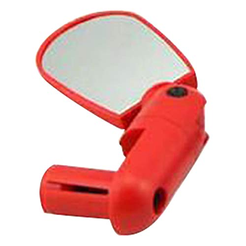 WCNMB Beautiful and practical Side Mountain Road Bicycle Adjustable Angle Bar End Accessories Bike Mirrors Rotation Cycling Universal Outdoor Safety Rear View Universal (Color : Red)