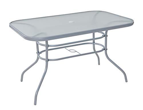 Havnyt Pacific 6 Seater Garden Patio Table in Silver or Black (Silver)