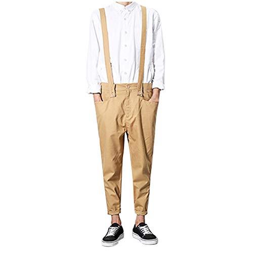 Hip Hop Trägerhose,Luotuo Mode Herren Neu Harajuku-Stil Latzhosen Beiläufig Trend Persönlichkeit Overalls Formeller Anlass Knöchellange Hosen