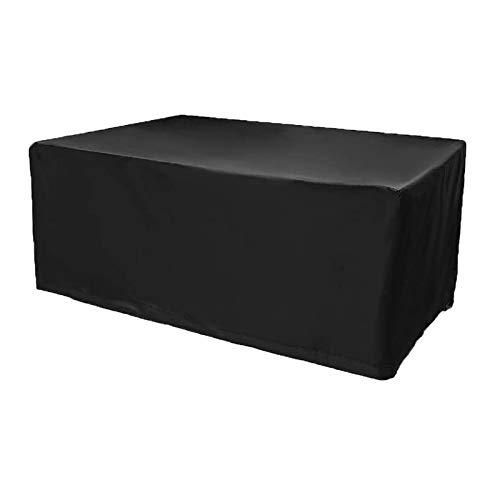 ZXHQ Cubierta Mesa De JardíN PañO 210x140x80cm, Funda Mesa Jardin, Protectora para Mesa De Patio Resistente Impermeable A Prueba Viento Anti Rayos UV para Patio Mesas Y Sillas