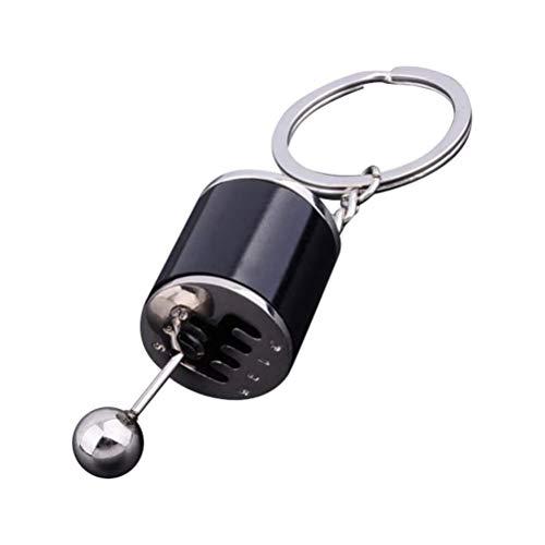 1 Stück Auto Gangschalter Form Metall Schlüsselanhänger Tragbarer Wagen 6-Gang-Schalthebel Modell Schlüsselring Schönes Geschenk