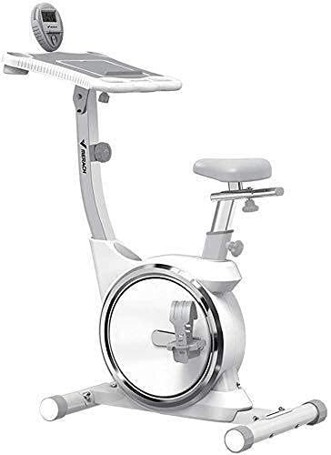 CDPC Bicicleta estática Plegable Bicicleta Fija Plegable compacta Brazo de Control de Resistencia magnética Bandas de Resistencia Monitor cardíaco Ejercicio en casa