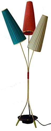 Stehlampe im Stil der 50er Jahre Lampe mit 3 Lampenschirmen~