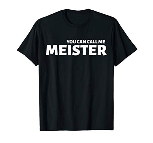 Herren Meisterprüfung Meister Meistertitel Handwerker Geschenk T-Shirt