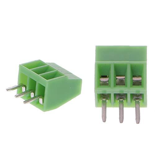 youyu6-2o521 Kit de Conectores de Encogimiento de Calor 10 PC 2P-10 Pines Tornillo Montados en PCB Bloques terminales de Conector 2,54 mm de Paso Terminales de Tierra (Color : 9PIN)