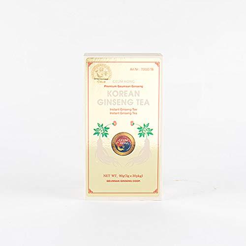GEUMHONG - Té de ginseng en caja de madera I té instantáneo I en bolsa I Ideal para viajes I 90 g
