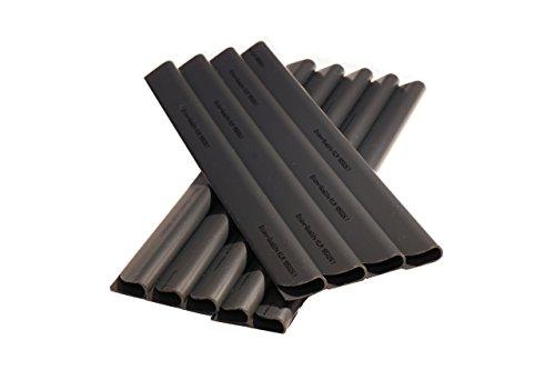 Enjoy-Quality 24 Stück PVC - Sichtschutzstreifen - Klemmschienen - Sichtschutz/Windschutz für Garten und Zaun - Befestigungsclips - Doppelstabmattenzaun - Universal (Anthrazit)