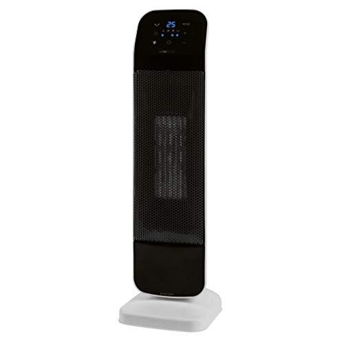 Clatronic Keramik-Heizlüfter HL 3763, schnelle und effektive Wärme, Sensor-Touch-Bedienfeld, Heizstufen (1000/2000 W), Digitale Einstellung der Raumtemperatur (15-35 °C),inkl. Infrarot-Fernbedienung