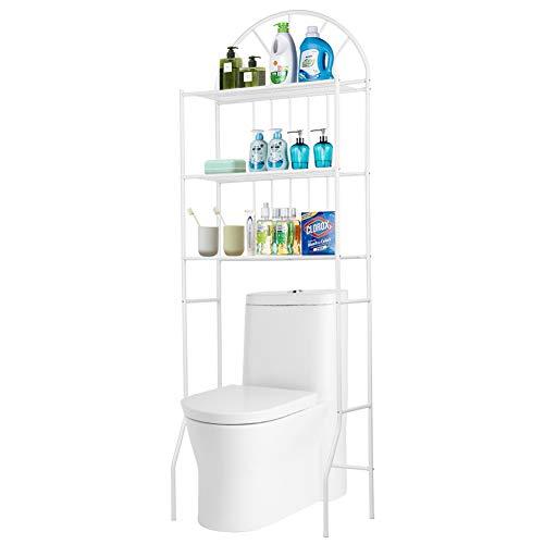 Mensola a 3 ripiani sopra la toilette Scaffale portaoggetti da bagno Scaffale per lavanderia Organizzatore - Mensola da bagno in metallo - 176,5 x 62 x 33,5 cm