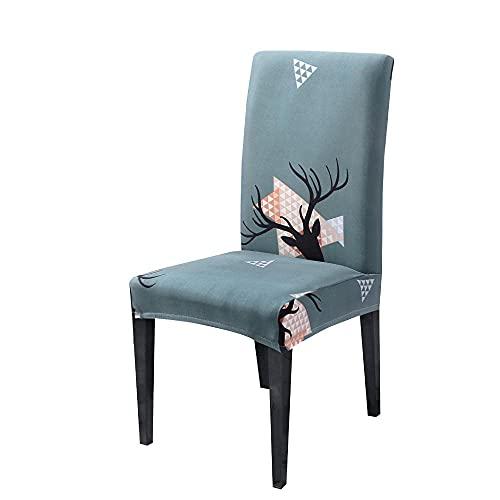 Wyxy Fodere per sedie da Pranzo Set di 4 Fodere per sedie Grigie Nere Bianche Fodere per sedie da Pranzo in Spandex Fodere per sedie per Sala da Pranzo Elasticizzate e Facilmente Lavabili, copris