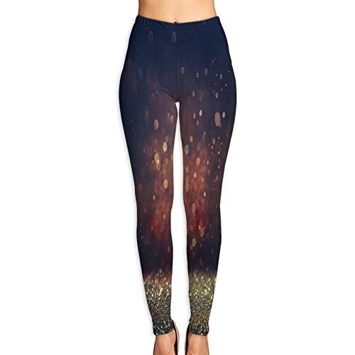 DmiGo Mallas Pantalones Deportivos Leggings,Resumen Foto Borrosa Bokeh Ráfaga De Luz,Mujer Pantalones de Yoga de Alta Cintura Elásticos para Yoga Running Fitness y Pilates XL