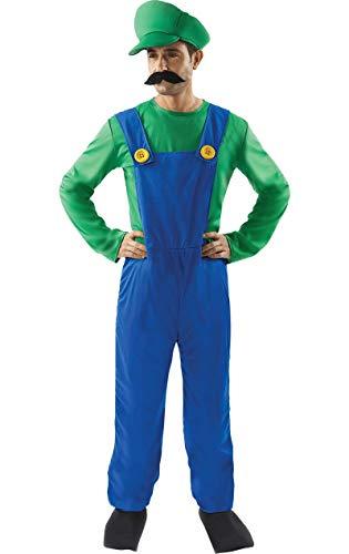 ORION COSTUMES Costume de déguisement de jeu vidéo rétro années 80 du partenaire du super plombier pour hommes