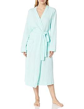 Amazon Essentials Women s Lightweight Waffle Full-Length Robe Aqua Medium