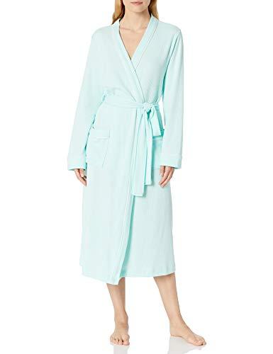 Amazon Essentials Women's Lightweight Waffle Full-Length Robe, Aqua, Large