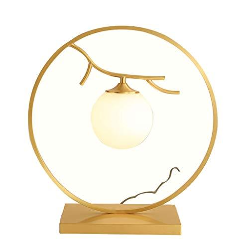NYKK Lámparas de Escritorio/lámpara de Oficina Lámpara de Mesa de Estilo Chino Creativo Lámpara de sobremesa de Cobre Retro Pequeña lámpara de cabecera del Dormitorio del hogar Luz para Dormitorios