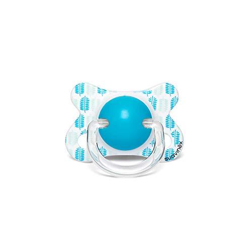 Suavinex, Chupete Tetina Fisiológica de Látex, Pavo Real Azul, -2/4 Meses