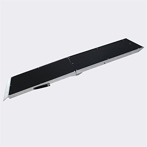 WilTec Rampe pour Les Chiens Pliable 92x38cm Aluminium Rampe Rail Collision 183cm 110kg