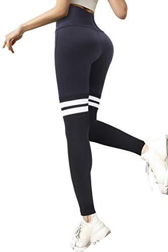 3W GRT Sport Leggings Damen,Blickdicht Yoga Sporthose,Streetwear,Fitnesshose mit Taschen,Yogahosen,High Waist Stretch Workout Fitness Jogginghose (Schwarz, S)