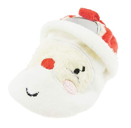 Glamour Girlz Adorables chaussons de Noël pour bébé fille garçon rouge et blanc (6–9 mois)