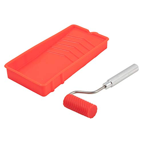Sili Glue Roller with Sili Glue Tray for Arts Crafts Woodworking and Larger Glue Up Projects