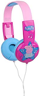 Peppa Pig Kids Safe Over The Ear Headphones HP2-03708 | Kids Headphones, Volume Limiter for Developing Ears, 3.5MM Stereo Jack, Recommended for Ages 3-9, by Sakar