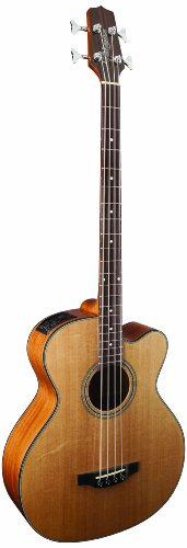 Takamine G Series GB30CE-NAT Jumbo Acoustic Electric Bass Guitar, Venetian Cutaway, Natural