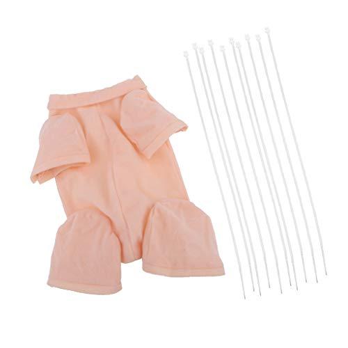 Sharplace Figura Reborn Cuerpo de Tela Bebé Renacido Accesorios Artesanía para 3/4 Brazo Muñeca Pierna Completa - 24 Pulgadas