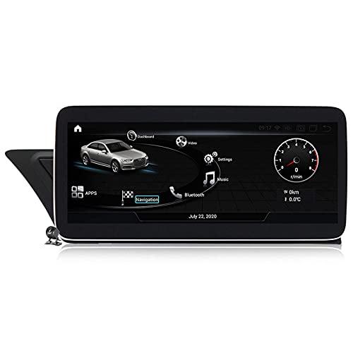 SuRose Radio GPS para Coche, Android Pantalla táctil Completa de 10,25 Pulgadas para Audi A4 B8 A5 2009~2016 Carplay Integrado con Soporte automático para Android Navegación/CD DVD DSP Multimedia/BT