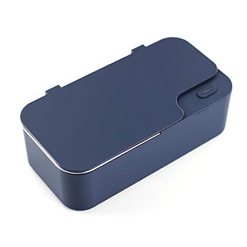 CSDY-Máquina De Limpieza por Ultrasonidos del Hogar Lavadora Joyería De Lavado Ver Lente De Contacto del Detergente Limpiadores Ultrasónicos,Azul