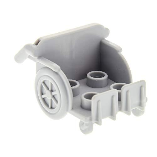 1 x Lego Duplo Rollstuhl neu-hell grau Krankenhaus Zubehör Figur Wheelchair 5795 45010 9209 5695 94901