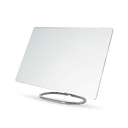 Home - mirror Zdong-Spiegel Wandbehang Badezimmerspiegel, Metall Support Desk Einzel Spiegel Rechteck Randlos-Verfassungs-Spiegel-Mann-Handheld-Rasierspiegel Haushal (Size : 26.5 * 15CM)
