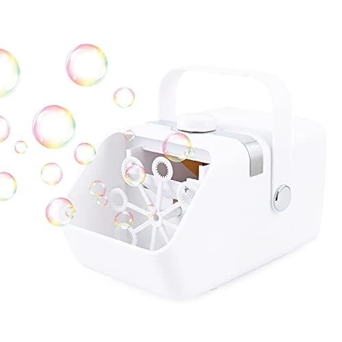 Macchina per bolle di sapone, DeerRanTec Macchina per le bolle elettrico automatica portatile Macchina sparabolle professionale USB Ideale per bambini e adulti, feste, matrimoni, feste di compleanno