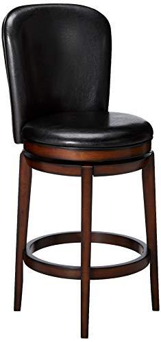 Hillsdale Furniture Victoria Swivel Bar Height Stool, Dark Chestnut