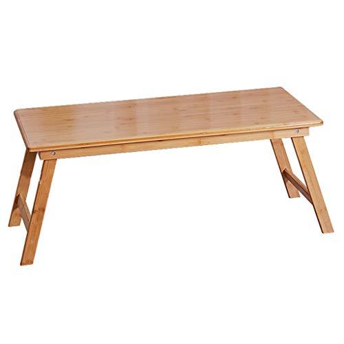 Kleine Tafel Op Het Bed Bamboe Bedtafel Wordt Gebruikt Om Een ontbijtblad Op Te Eten Opvouwbaar Houten Dienblad Voor Bed Met Pootjes (Color : Wood color, Size : 60 * 50 * 25cm)