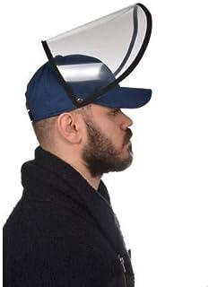Siperlikli Şapka Yüz Koruyucu Silinebilir Ayarlanabilir Unisex Çıtçıtlı - Lacivert