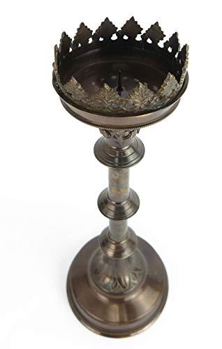 Clever-Deko, grande candelabro altare, candelabro, candelabro, candelabro, candelabro in bronzo marrone